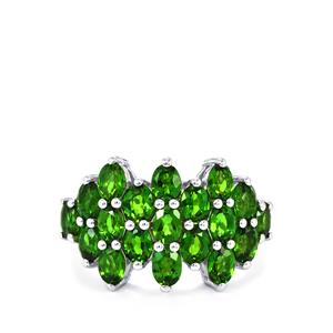 Chrome Diopside Ring in Sterling Silver 3.38cts