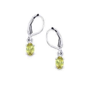 Ambilobe Sphene Earrings in Sterling Silver 1.08cts
