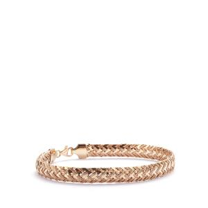 9K Gold Altro Weave Bracelet 3.70g