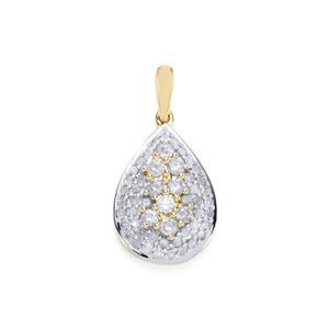 Diamond Pendant in 10K Gold 0.76ct