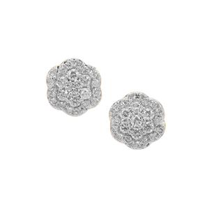 Argyle Diamond Earrings in 9K Gold 1cts