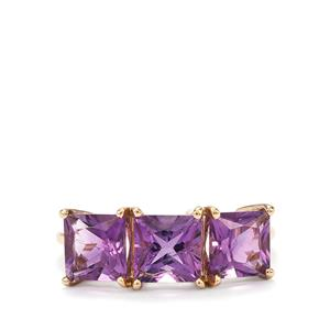 Moroccan Amethyst Ring in 10K Gold 2.88cts