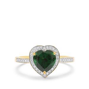 Tsavorite Garnet & Diamond 18K Gold Tomas Rae Heart Ring MTGW 2.03cts