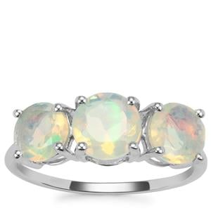 Ethiopian Opal Ring in 9K White Gold 1.68cts
