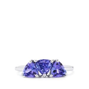 AA Tanzanite Ring  in 10k White Gold 1.73cts