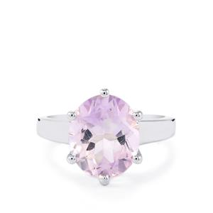 Rose De France Amethyst Ring in Sterling Silver 4.24cts