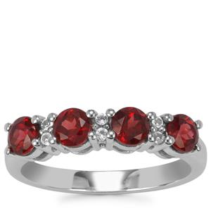 Octavian Garnet Ring with White Topaz in Sterling Silver 1.43cts