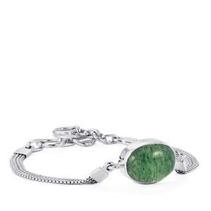 Aventurine Quartz Bracelet in Sterling Silver 12cts