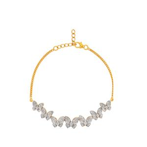 Diamond Bracelet in Gold Plated Sterling Silver 1ct