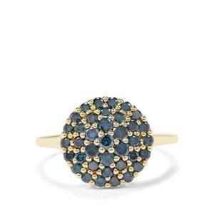 1ct 'Pure' Blue Diamond 9K Gold Tomas Rae Ring