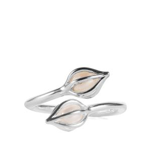 Calla Lilly Kaori Cultured Pearl Adjustable Ring in Sterling Silver (5mm)