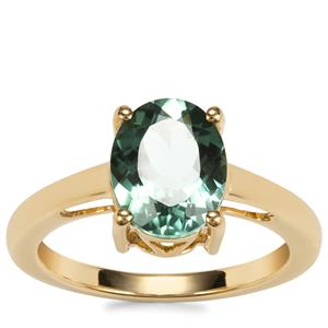 Congo Mint Tourmaline Ring in 18K Gold 2.18cts