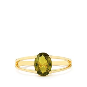 Cuprian Tourmaline Ring in 10k Gold 1.30cts