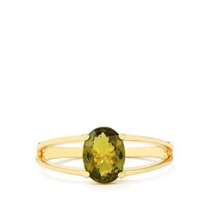 1.30ct Cuprian Tourmaline 9K Gold Ring