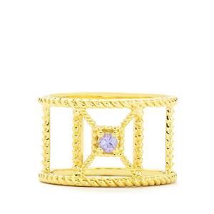 0.10ct Tanzanite Vermeil Ring