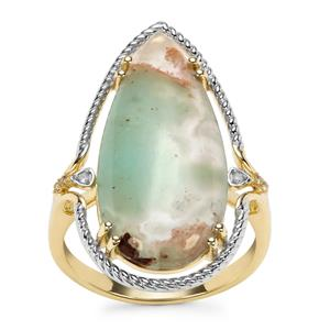 Aquaprase™, Champagne Diamond Ring with White Diamond in 9K Gold 9.49cts