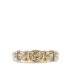 Csarite® & Diamond 10K Gold Ring ATGW 1.12cts