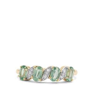 Odisha Kyanite & Diamond 9K Gold Ring ATGW 1.41cts