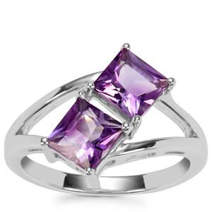 Moroccan Amethyst Ring in Sterling Silver 1.92cts