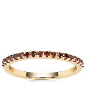 Red Diamond Ring in 9K Gold 0.28ct