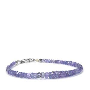 Tanzanite Bead Bracelet in Sterling Silver 25cts