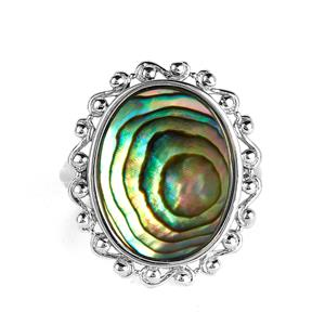 Paua Sterling Silver Ring