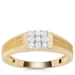 Diamond Ring in 9K Gold 0.26ct