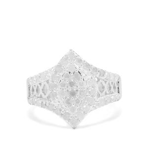 Diamond Ring in Sterling Silver 1cts