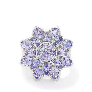 6.16ct AA Tanzanite Sterling Silver Ring