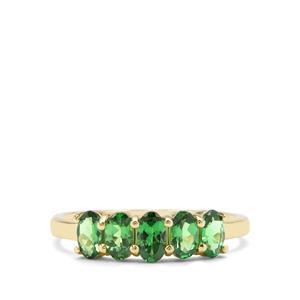 Tsavorite Garnet Ring in 9K Gold 1.25cts