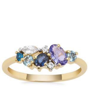 Kaleidoscope Gemstones in 9K Gold 0.84ct