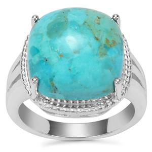 Cochise Turquoise Ring in Sterling Silver 9.53cts