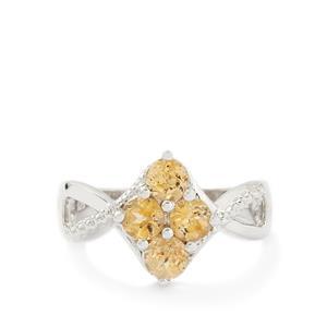 1.39ct Ceylon Imperial Garnet Sterling Silver Ring