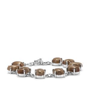 49.50ct Cappuccino Flint Sterling Silver Bracelet