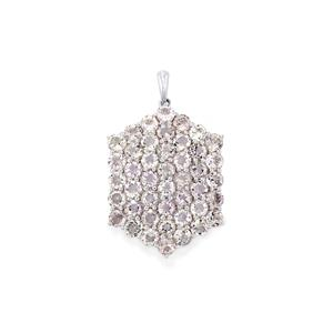 Rose De France Amethyst Pendant  in Sterling Silver 10cts