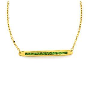 1.09ct Chrome Diopside Gold Vermeil Bridge Necklace