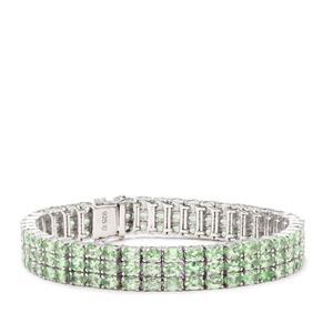 23.57ct Tsavorite Garnet Sterling Silver Bracelet