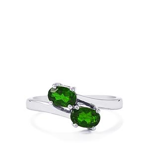1.04ct Chrome Diopside Sterling Silver Ring