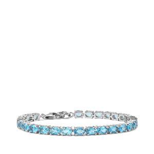 Swiss Blue Topaz Bracelet in Sterling Silver 14.10cts