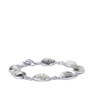 Siberian Dendrite Quartz Bracelet in Sterling Silver 35.47cts