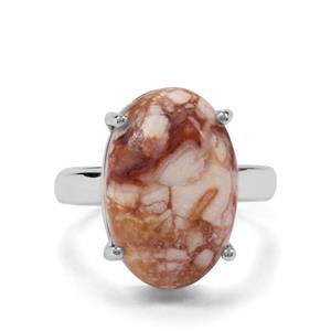 10.44ct Rosetta Jasper Sterling Silver Ring