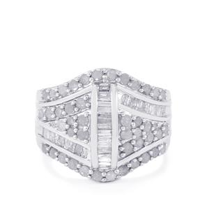 1.50ct Diamond Sterling Silver Ring