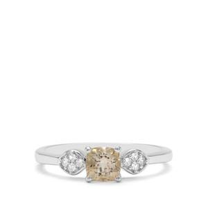 Serenite & White Zircon Sterling Silver Ring ATGW 0.71ct
