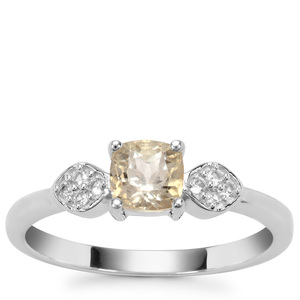 Serenite Ring with White Zircon in Sterling Silver 0.71ct