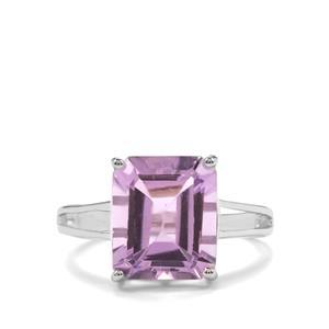 5.50ct Rose De France Amethyst Sterling Silver Ring