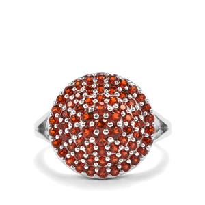 Anthill Garnet Ring in Sterling Silver 1.29cts