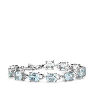 Sky Blue Topaz Bracelet in Sterling Silver 24.75cts