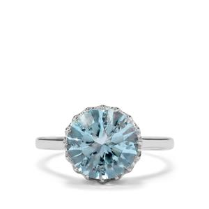 Sky Blue Topaz Ring in Sterling Silver 4.66cts