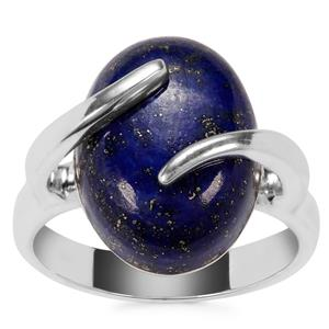 Sar-i-Sang Lapis Lazuli Ring in Sterling Silver 10.16cts
