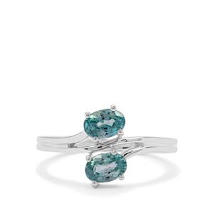 Ratanakiri Blue Zircon Ring  in Sterling Silver 1.49cts